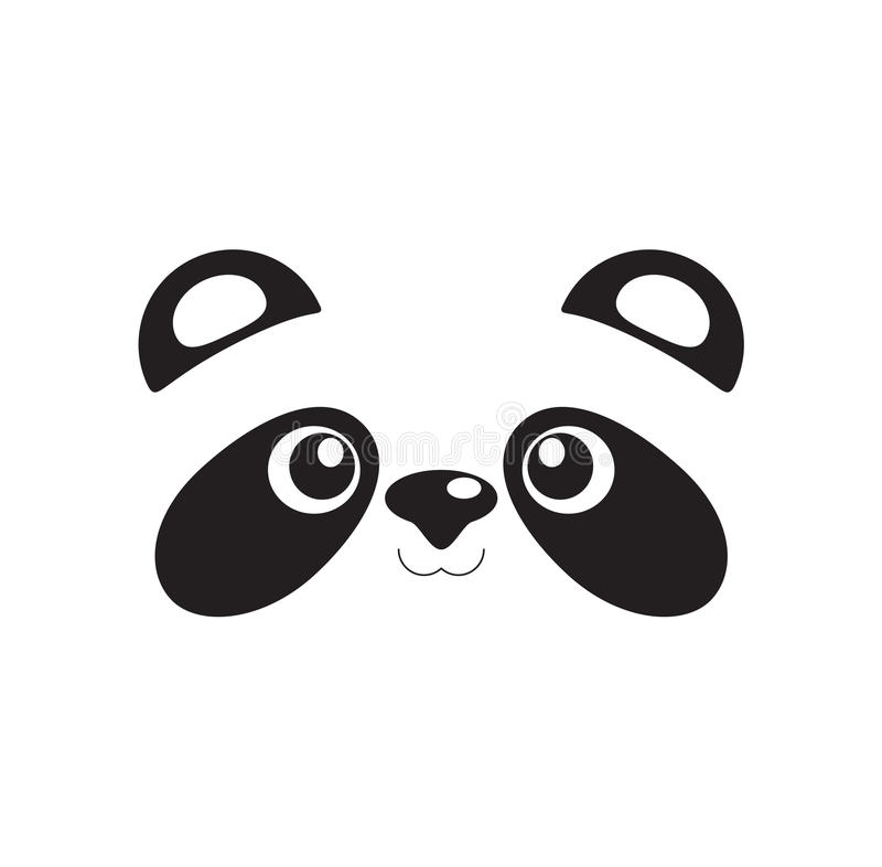 Cute panda face vector illustration