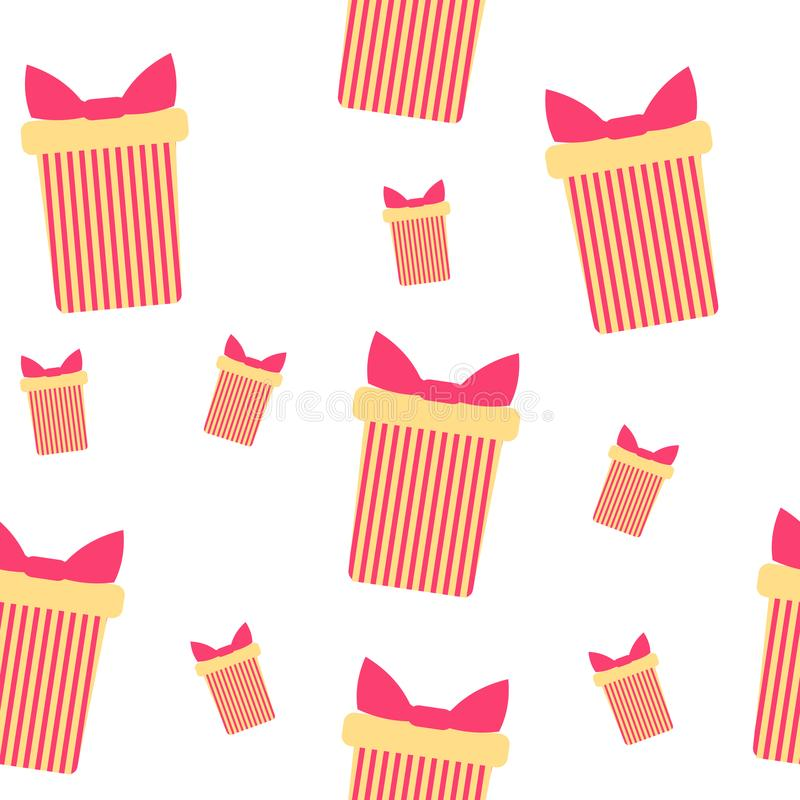 Cute party presents seamless pattern vector illustration