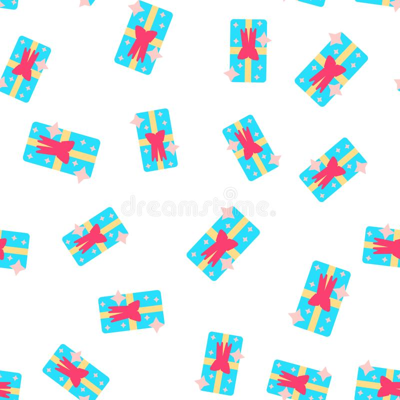The Cute party presents seamless pattern. vector stock illustration