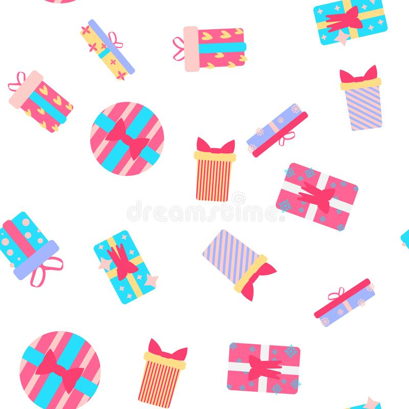 The Cute party presents seamless pattern. vector vector illustration
