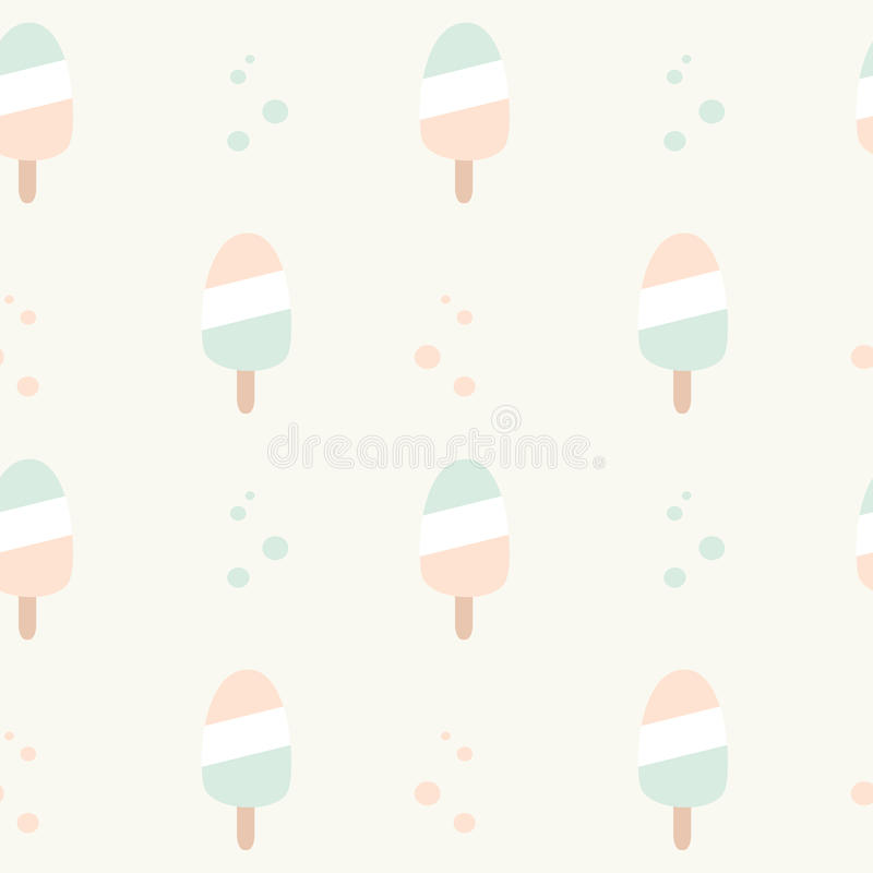 cute pastel colors ice cream seamless pattern background