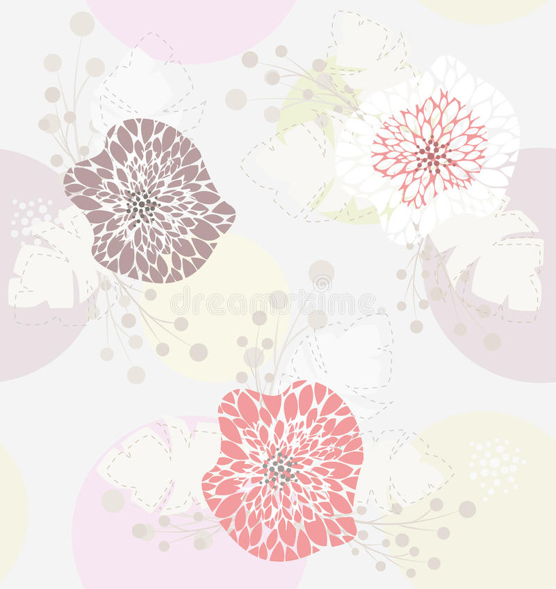 Cute pastel spring floral pattern