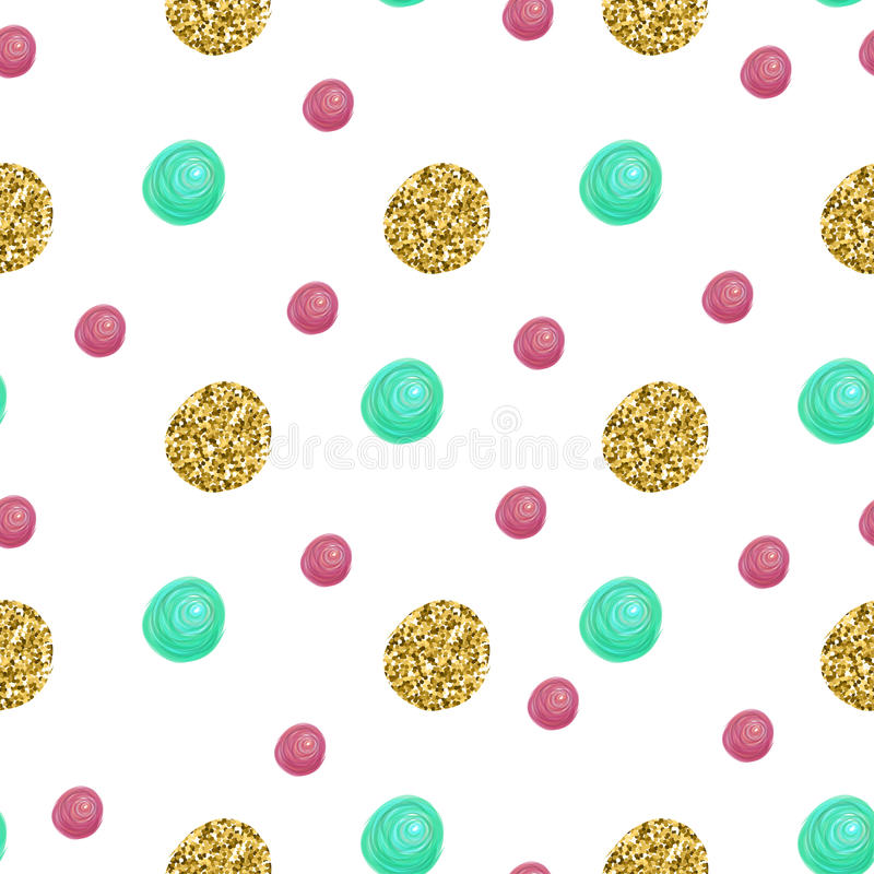 Cute pattern with gold Confetti glitter. Perfect for valentines day, birthday, save the date invitation. Vector vector illustration