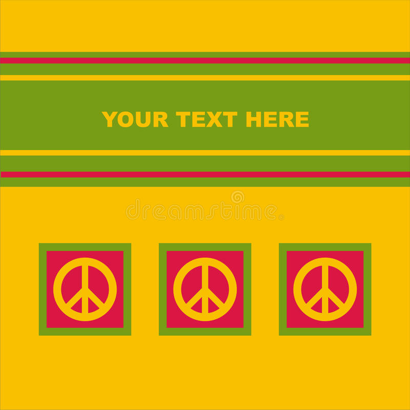 Cute Peace Card Stock Image