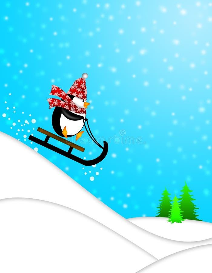 Download Cute Penguin On Sled Downhill Illustration Stock Illustration - Image: 22388922