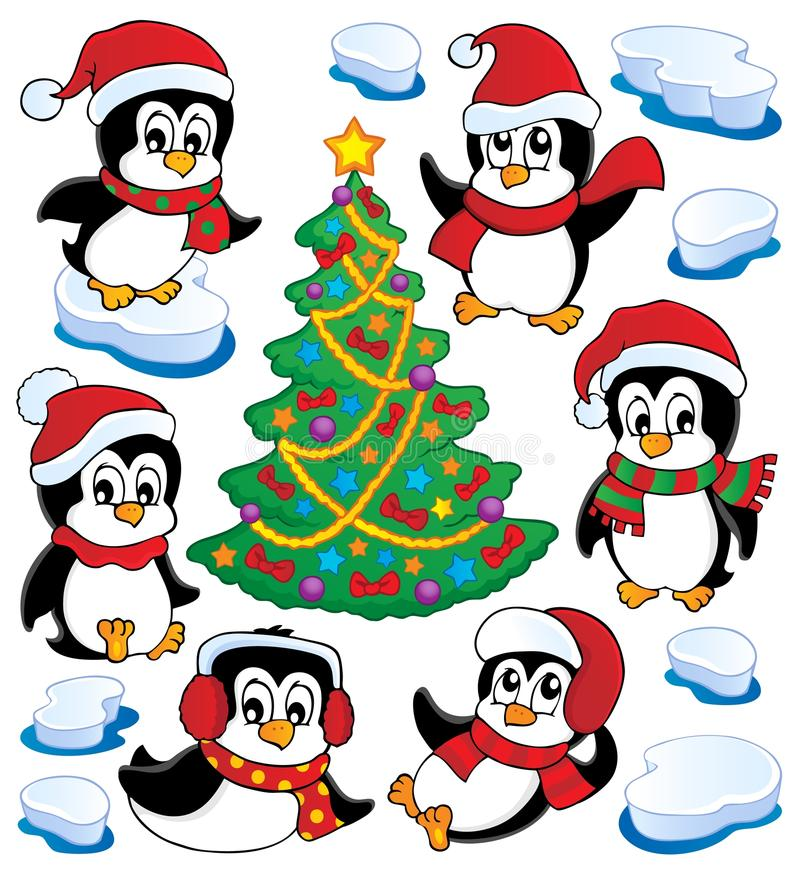 Cute Penguins Collection Stock Image