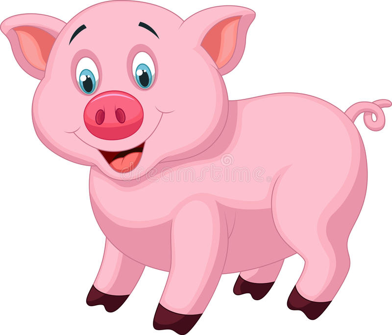 Cute pig cartoon stock vector illustration of pets bacon