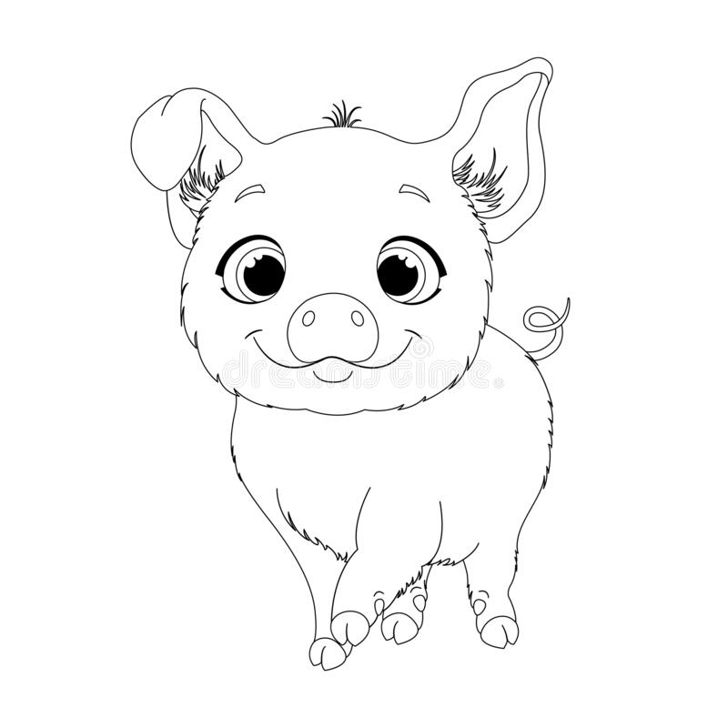 Coloring Page For Kids With Little Pig Stock Vector Illustration Of Animal Coloringpageforkids 176831303