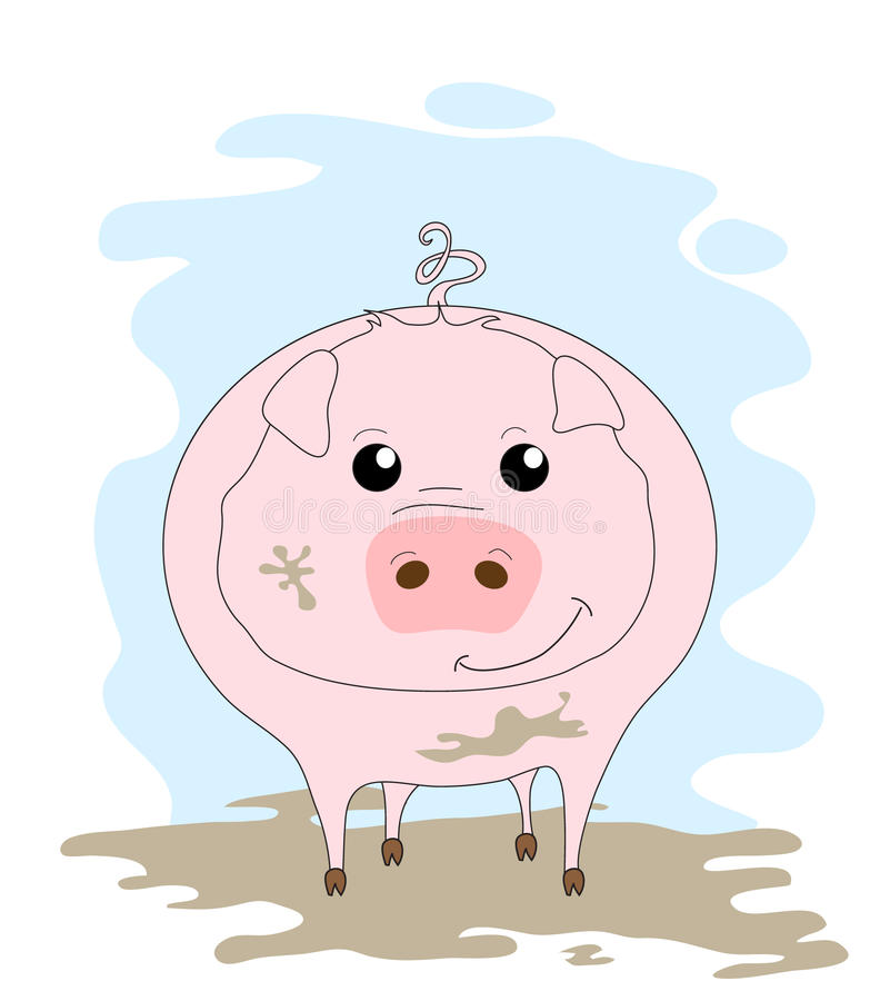 Download Cute Pig In Mud Stock Images - Image: 17836784