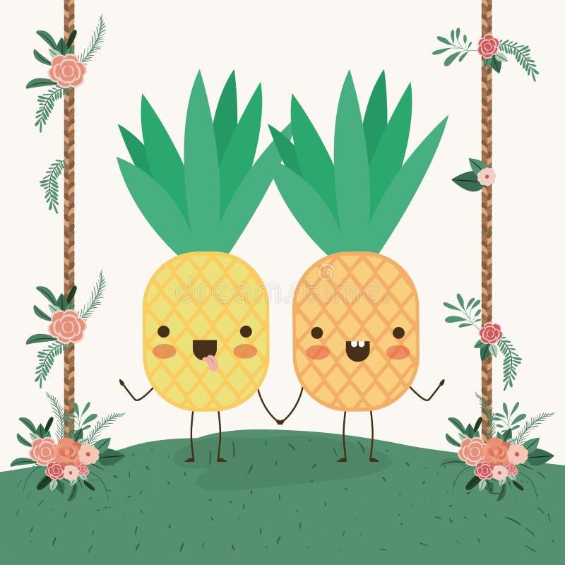 Kawaii Pineapples Stock Illustrations 48 Kawaii Pineapples