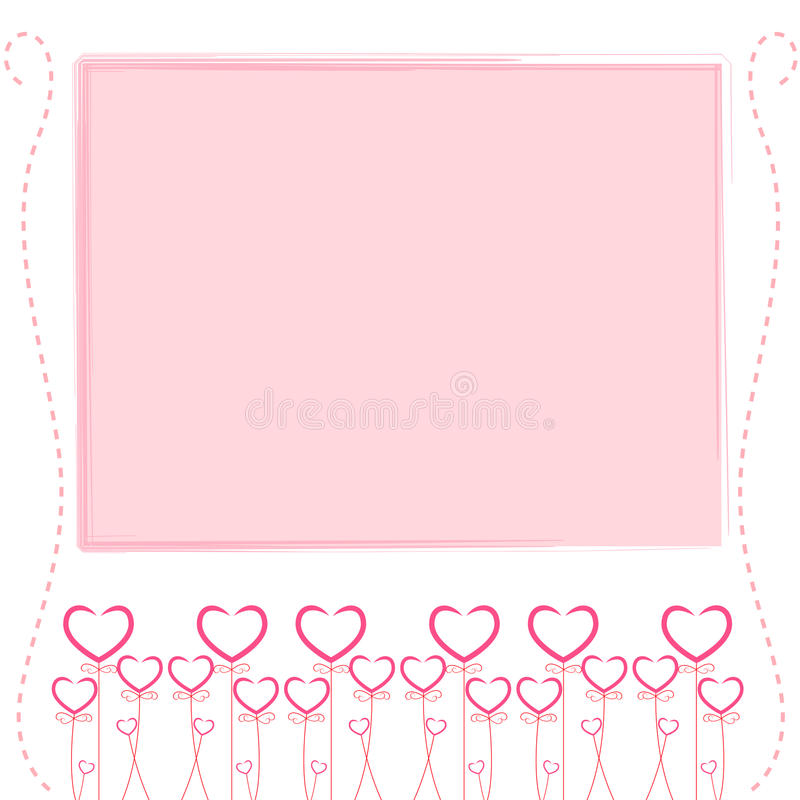 cute pink backgroundcute card of love stock vector