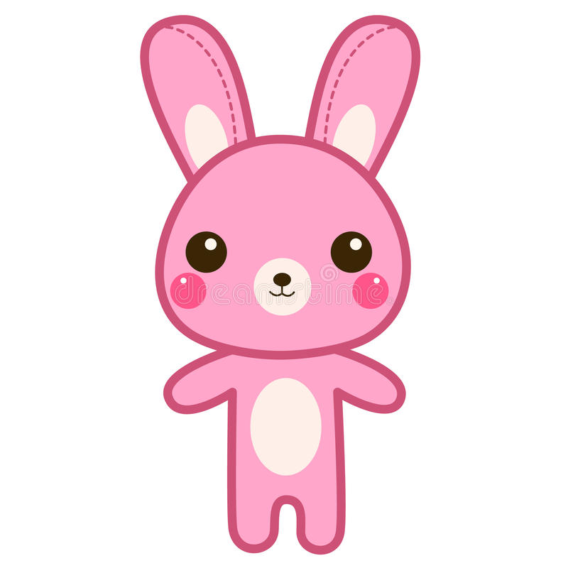 cute pink bunny cartoon stock vector image 55056527 girly clip art free girly cliparts for baby shower