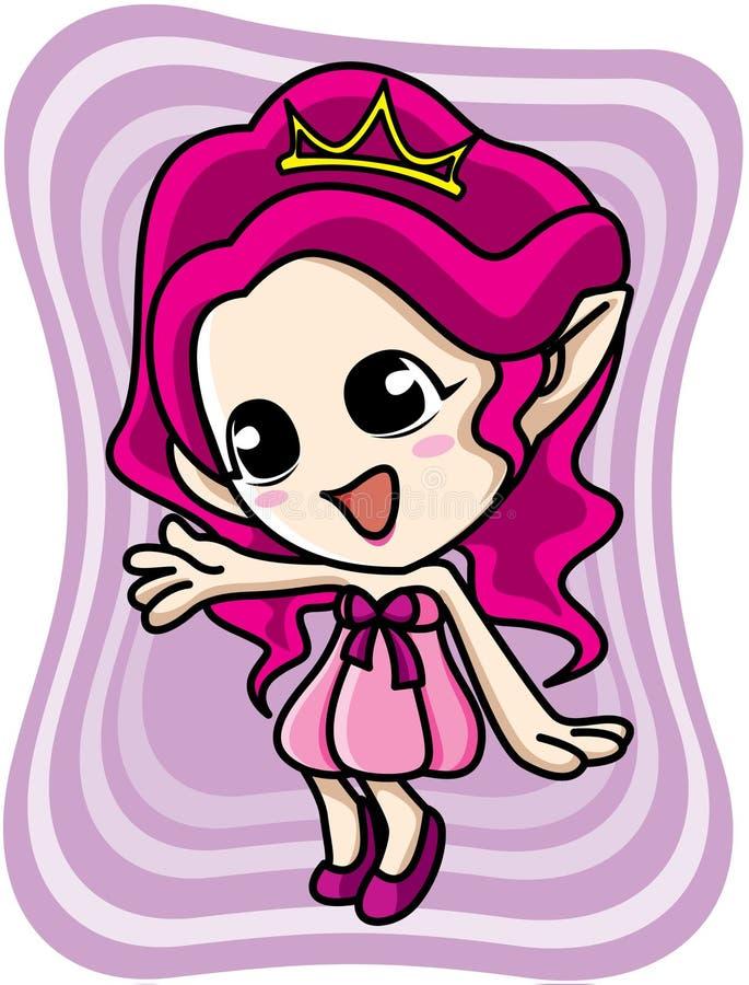 Download Cute pink elf girl stock vector. Image of dresses, character - 27616150