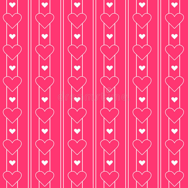 Cute Pink Hearts Pattern. Princess series. Endless texture can be used for printing onto fabric and paper or scrap booking stock illustration