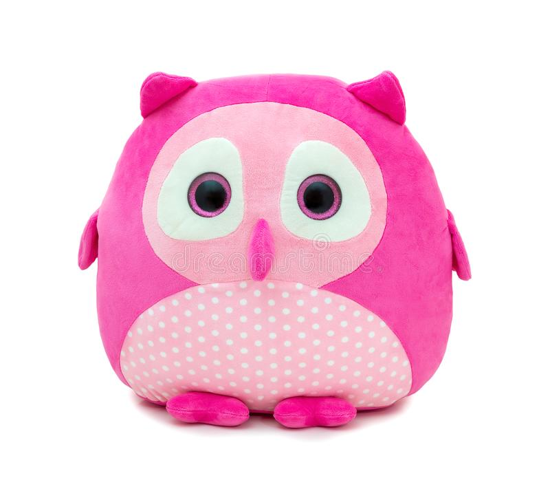 Free Cute Pinky Owl Doll Isolated On White Background With Shadow Reflection. Owl The Bird Of Prey On White Backdrop. Royalty Free Stock Image - 164035146