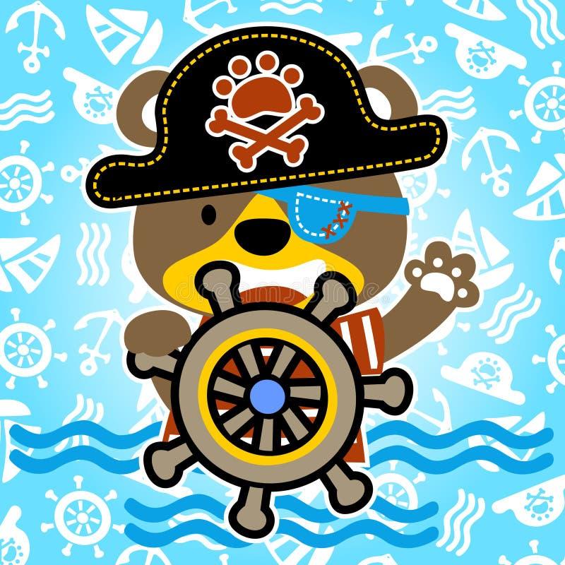 Cute pirate vector illustration