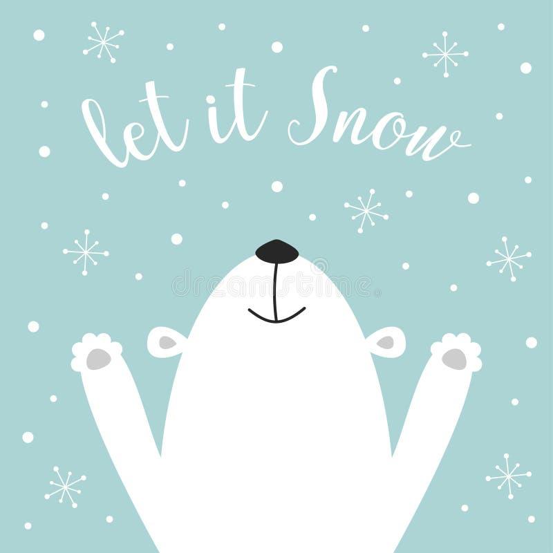 Cute polar bear stock illustration