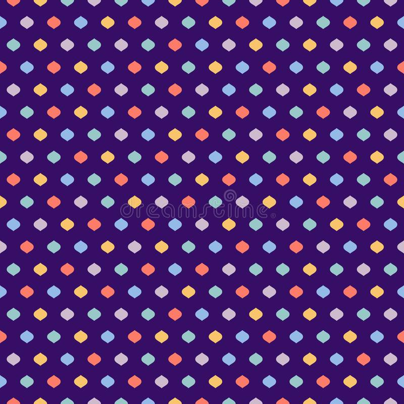 Cute polka dot seamless pattern. Vector texture with small colorful confetti. Cute funky vector seamless pattern. Vector geometric texture with small colorful stock illustration