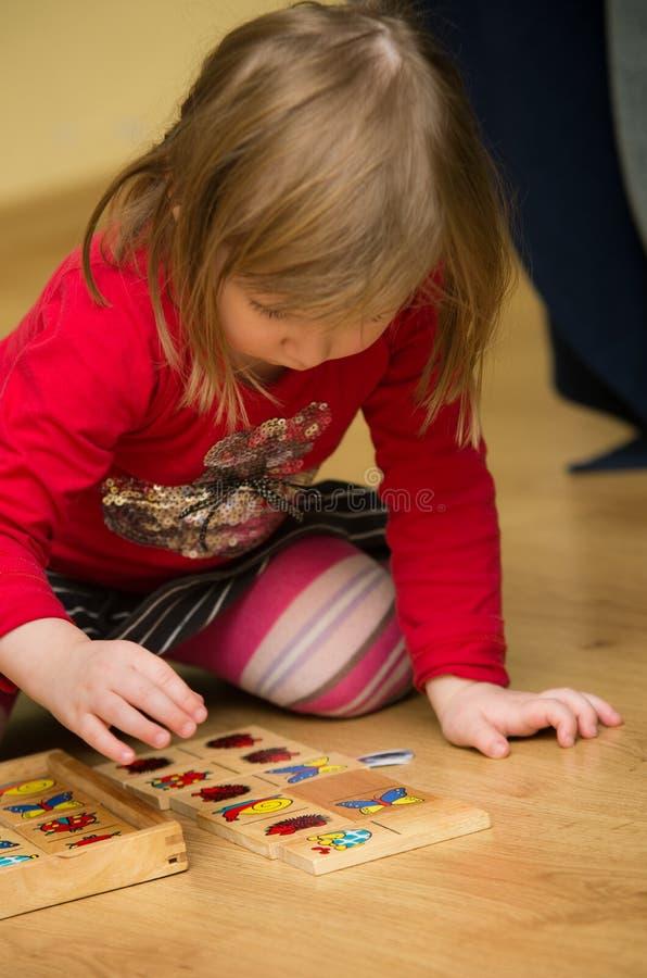 Preschool Girl Playing Royalty Free Stock Photos