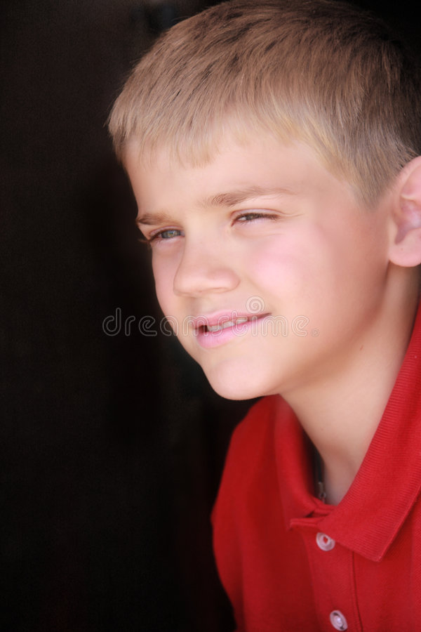 Download Cute Preteen Boy stock photo. Image of watching, head - 5141376
