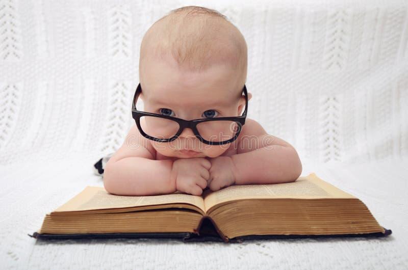 Cute professor baby stock image