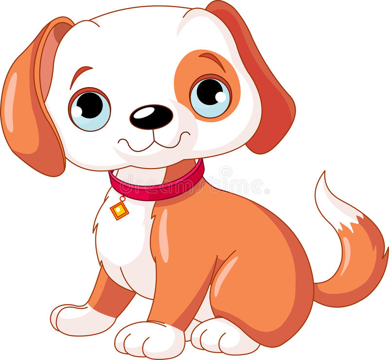 Download Cute Puppy stock vector. Image of little, cute, collar - 20909262