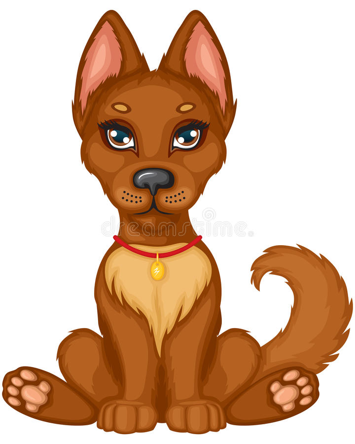Download Cute puppy stock vector. Image of mammal, baby, nice - 26935840