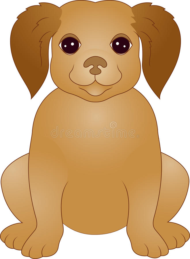 Download Cute Puppy cartoon stock vector. Illustration of panting - 25130460
