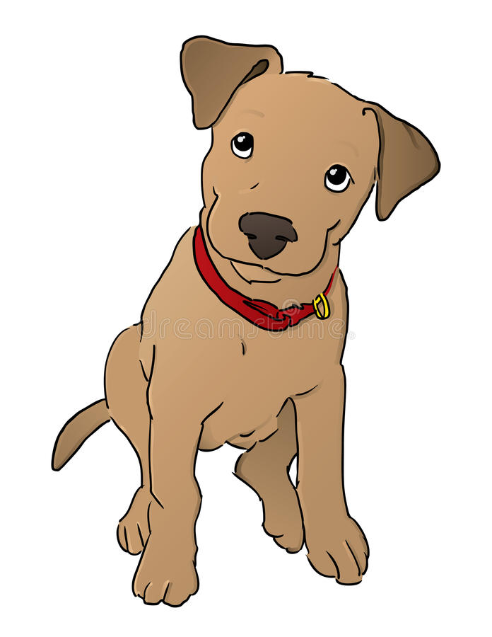 Cute Puppy Illustration Stock Photography