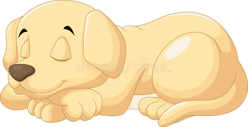 Cute puppy sleeping. Vector illustration of cute puppy sleeping royalty free illustration