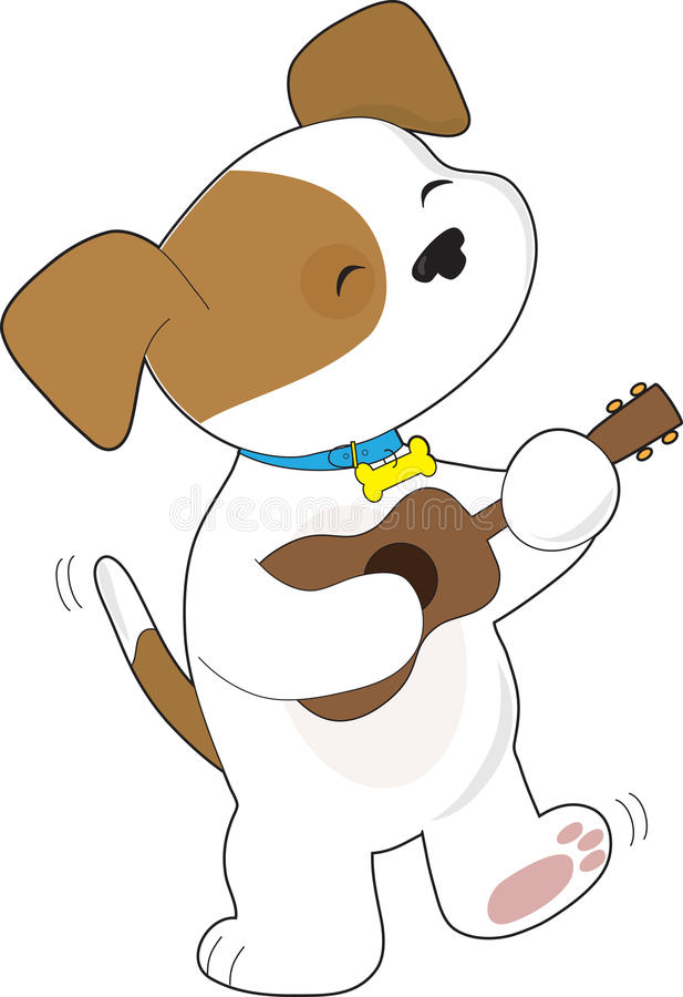 Download Cute Puppy Ukulele stock illustration. Image of instrument - 23716348