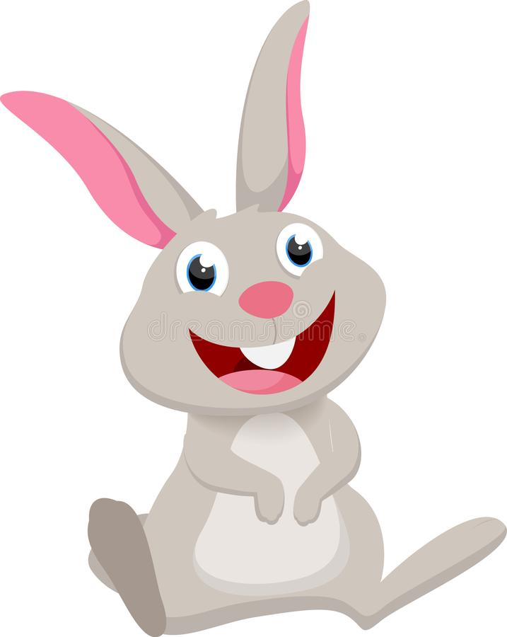 Cute rabbit cartoon collection set royalty free stock photo