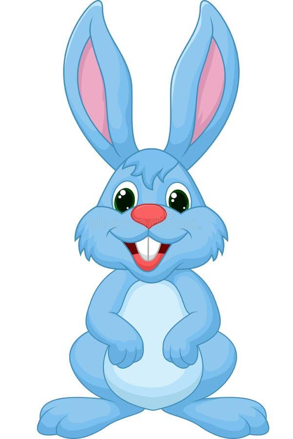 Картинка зайчика голубого цвета