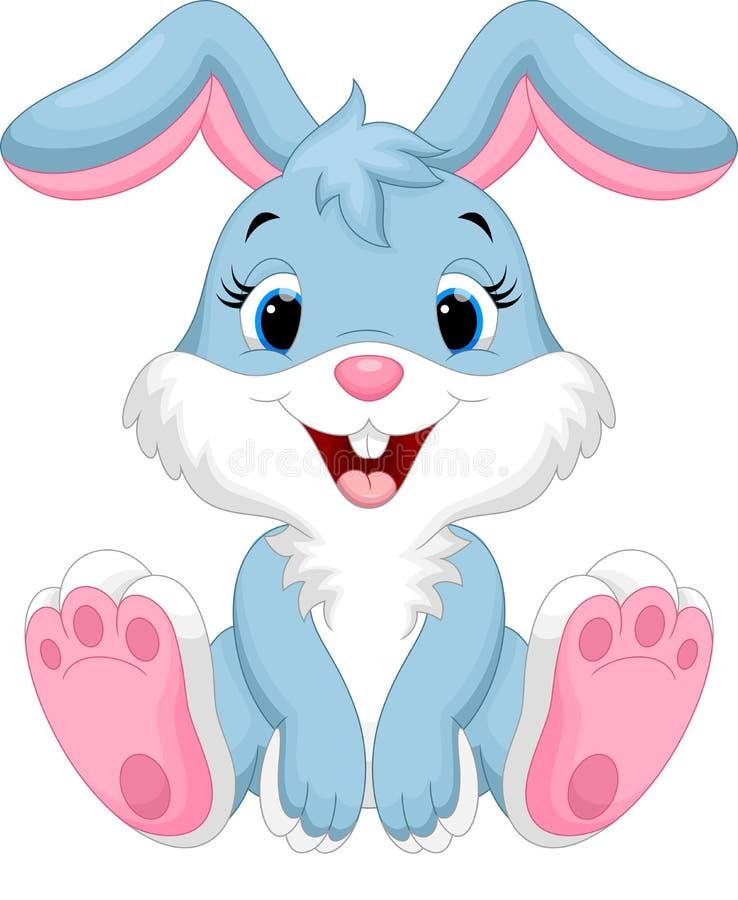Cute rabbit cartoon. Illustration of cute rabbit cartoon isolated on white background