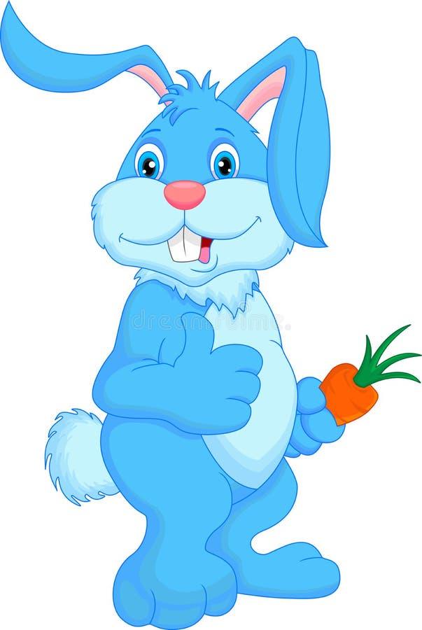 Cute rabbit cartoon thumbs up vector illustration