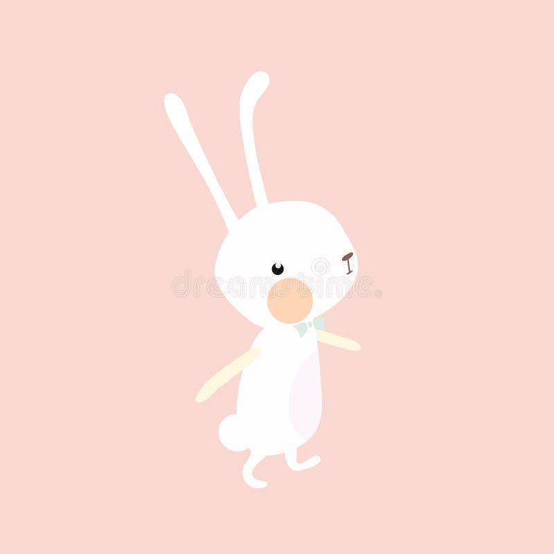 Cute rabbit. vector illustration