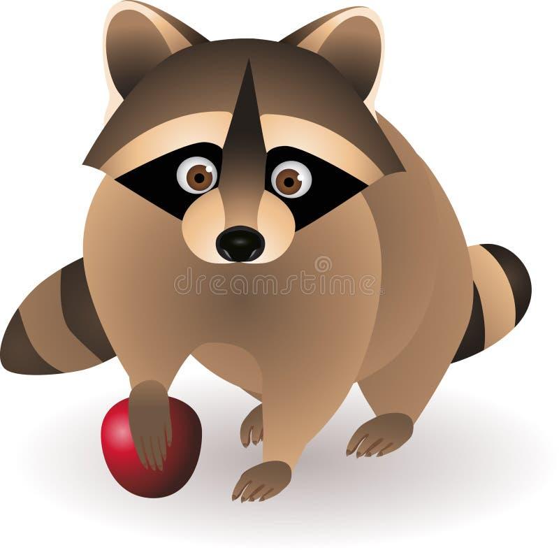 Download Cute raccoon cartoon stock vector. Image of mask, park - 14410260