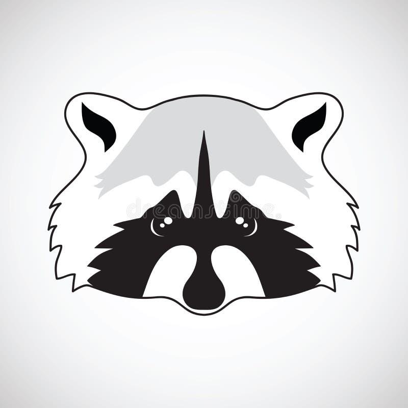 Cute Raccoon Face. Vector Illustration Stock Vector ... Raccoon Face Clip Art