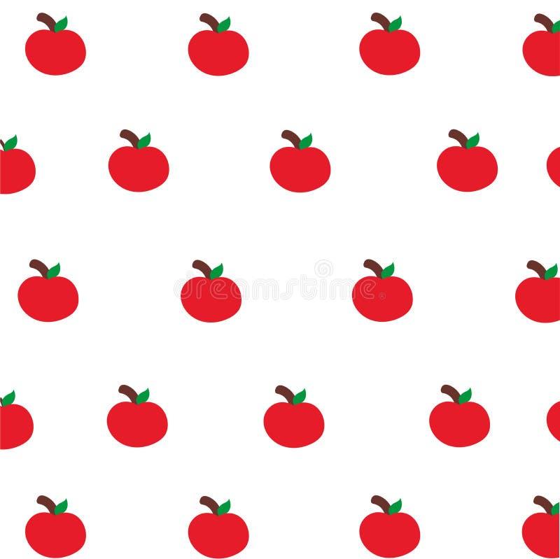 Cute red apple wallpaper stock illustration. Illustration ...