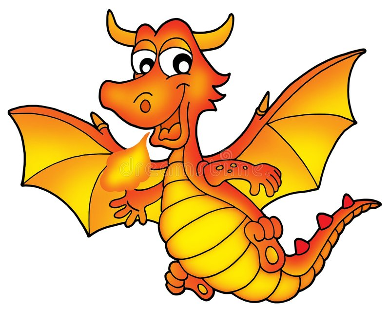 Cute red dragon royalty free stock photography