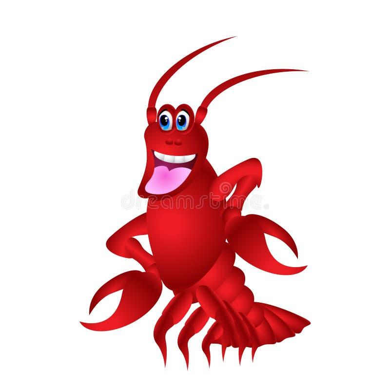 Cute Red Lobster Cartoon vector illustration