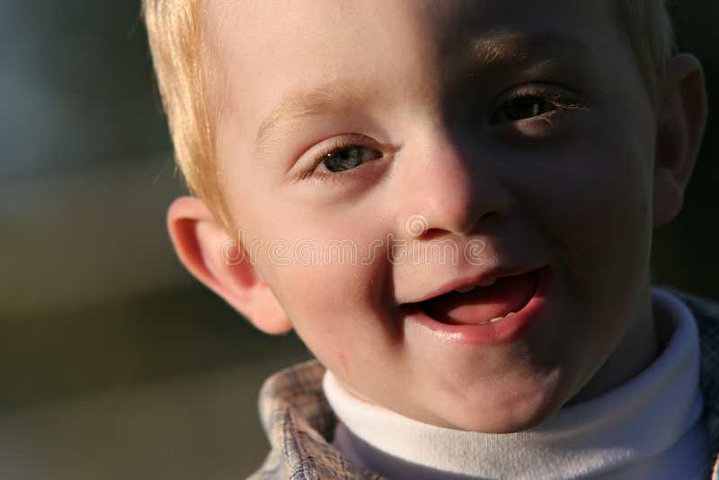 Cute redhead boy royalty free stock photo