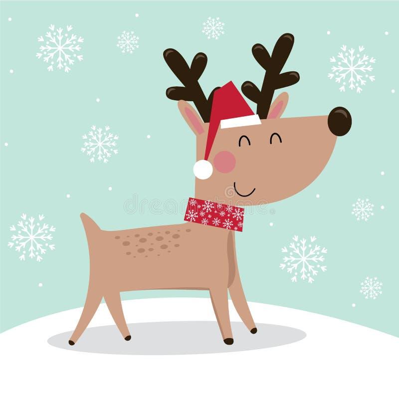 Cute reindeer design, Cute Christmas character design royalty free stock image