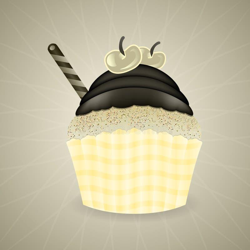 Cute retro cupcake stock illustration
