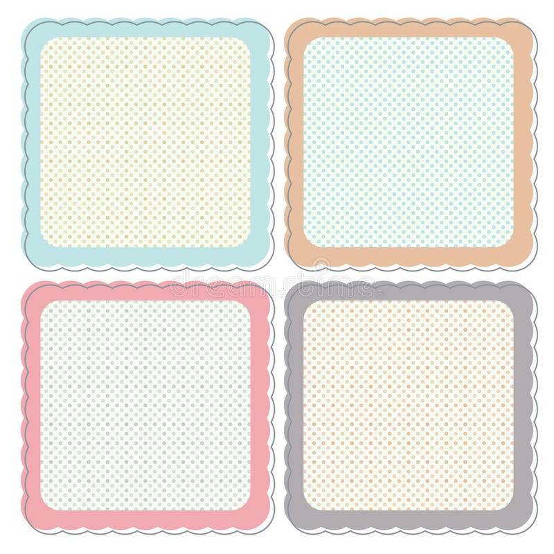 Download Cute Retro Framed Icon Set stock vector. Illustration of border - 26326156