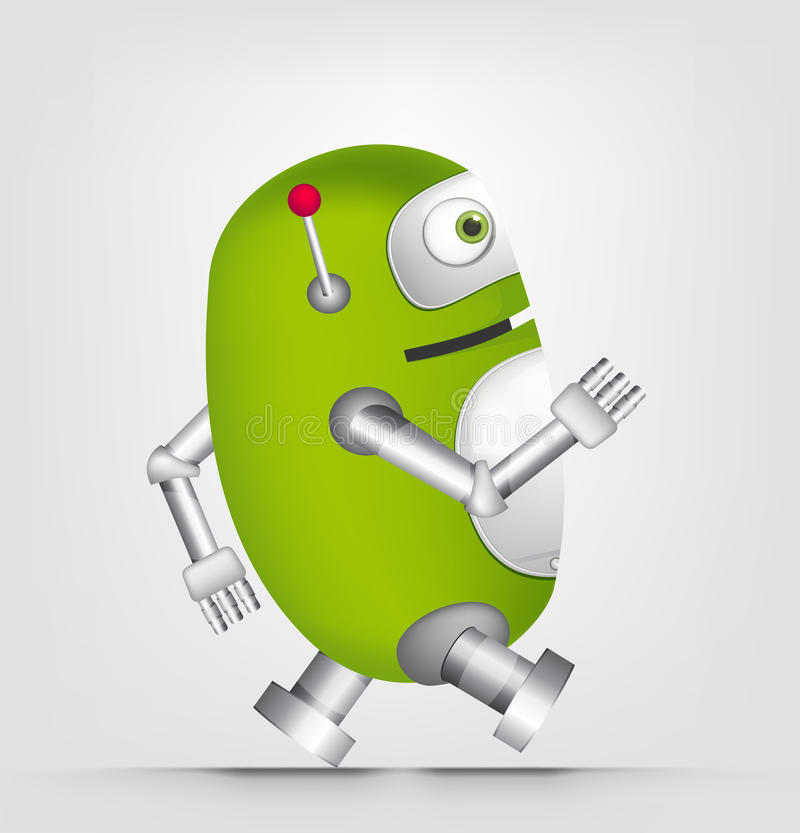 Cute Robot stock illustration