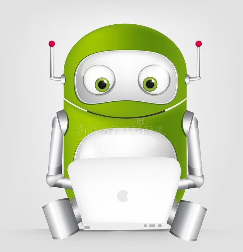 Download Cute Robot stock vector. Image of grey, coder, cybernetics - 27411231