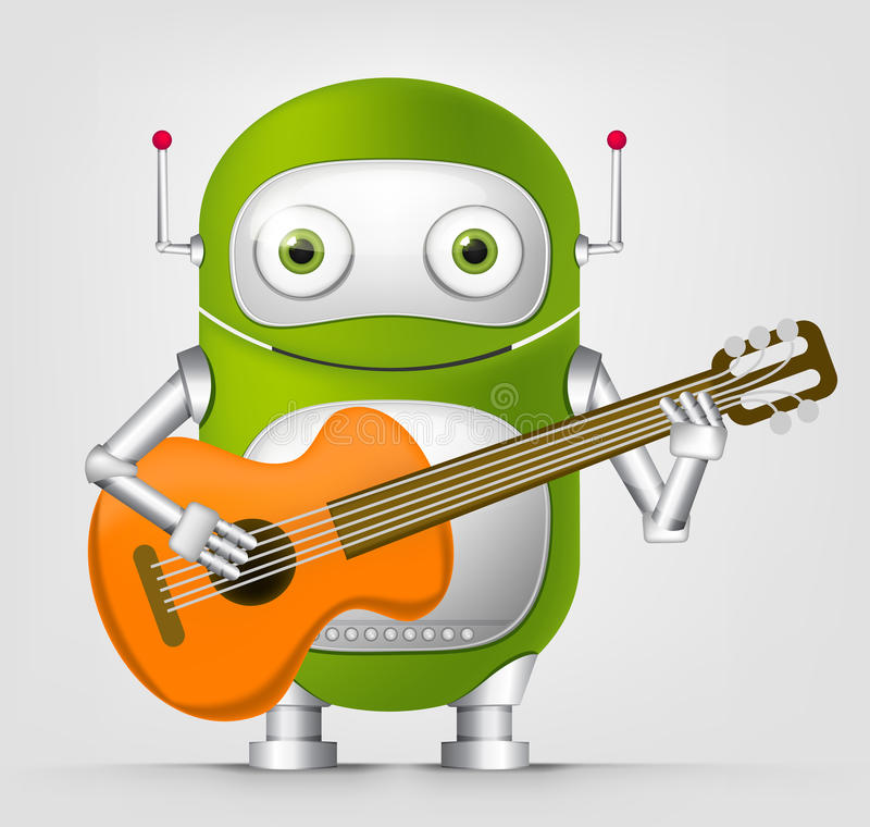 Cute Robot stock illustration