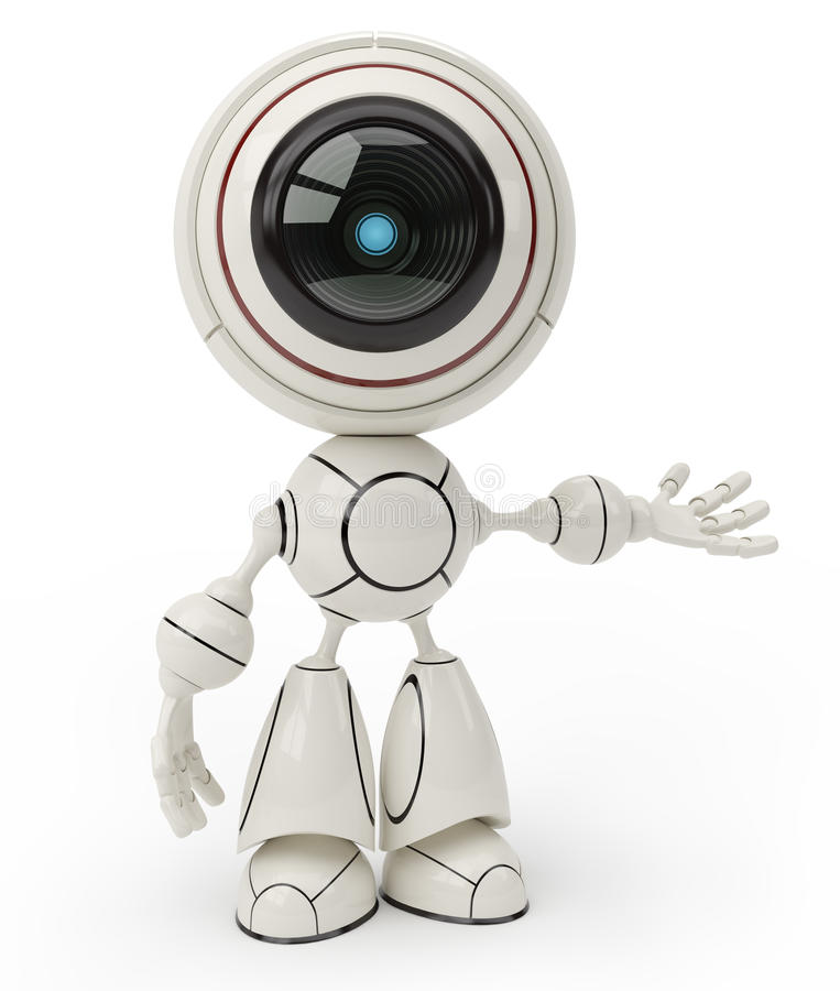 Cute robot vector illustration
