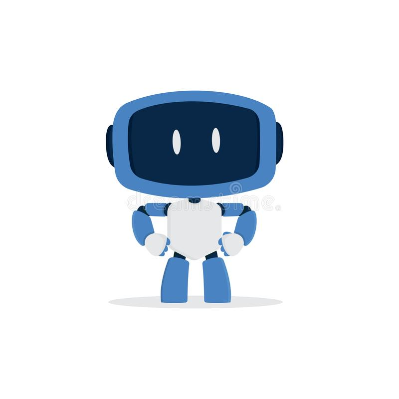 Cute robot cartoon character royalty free stock photos